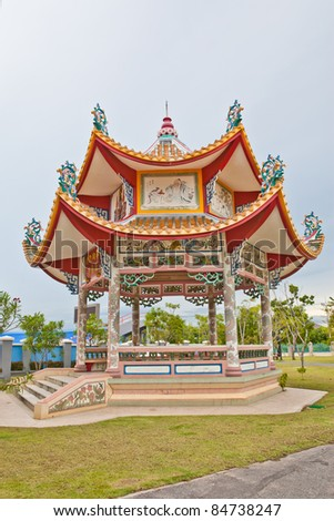 Chinese style pavilion - stock photo