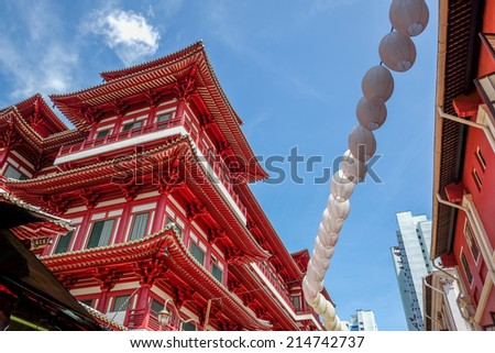 Chinese style temple - stock photo