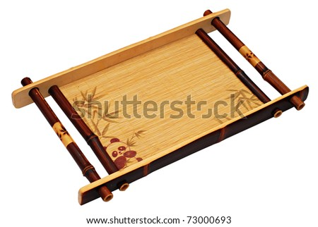 Chinese tea-tray isolated over white background - stock photo