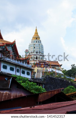 Chinese Temple in Malaysia - stock photo