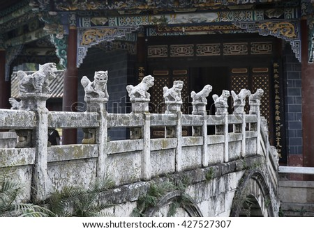 Chinese temples ancient buildings   - stock photo