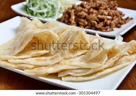 Chinese tradition food - Chinese pancakes   - stock photo