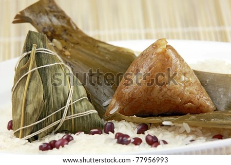 chinese traditional cuisine rice dumpling - stock photo