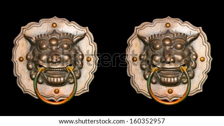 Chinese traditional gorgeous door knob - stock photo