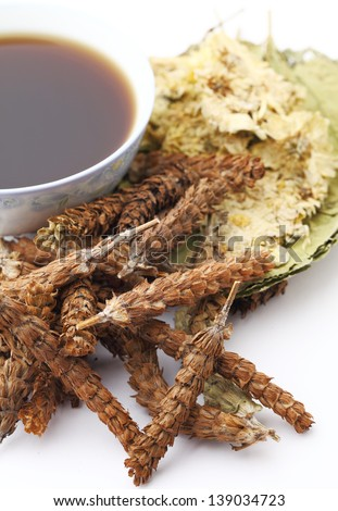 Chinese traditional herbal drink - stock photo