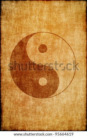 Chinese zodiac sign yin yang - stock photo