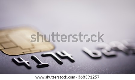 chip credit card (shallow depth of field)  - stock photo