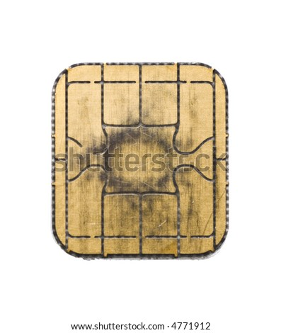 chip from a credit card - stock photo
