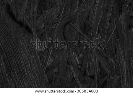 Chipboard Front Side, Charcoal Black Stained, Rough, Extra Coarse, Grunge Texture Detail. - stock photo