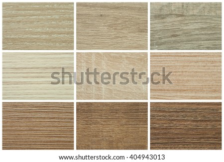 Chipboards, color palette and texture for furniture  - stock photo