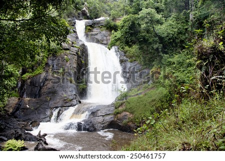 Chisanga Waterfall on the Nyika Plateau in Northern Malawi, Africa - stock photo