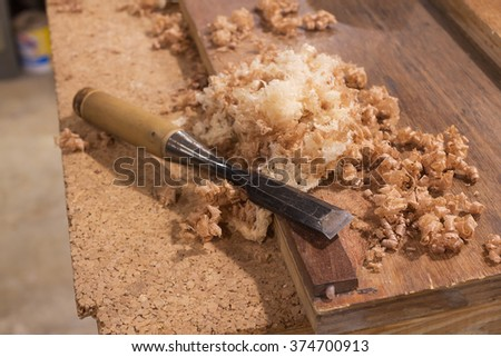 Chisel/high quality chisel for craftsmanship /select a specific focus - stock photo
