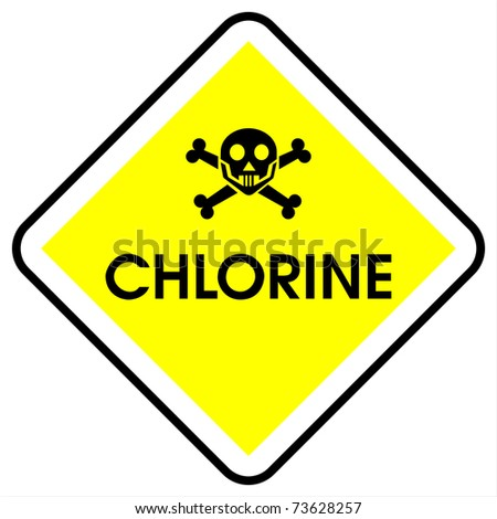 Chlorine sign - stock photo