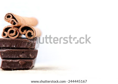 chocolate and cinamon - stock photo