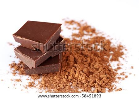 Chocolate and cocoa - stock photo