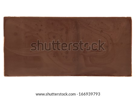 Chocolate bar on a white background - stock photo
