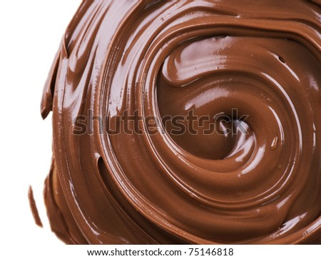 Chocolate border over white - stock photo