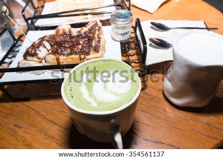 chocolate bread with milk - stock photo