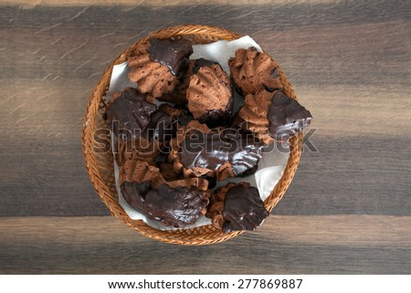 Chocolate cake dessert - stock photo