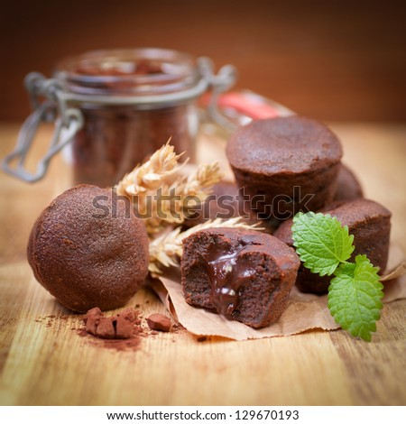 Chocolate cakes - stock photo