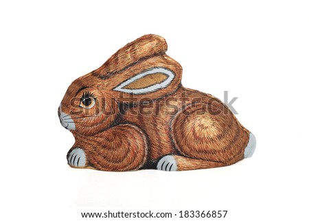 chocolate candy Easter  bunny - stock photo