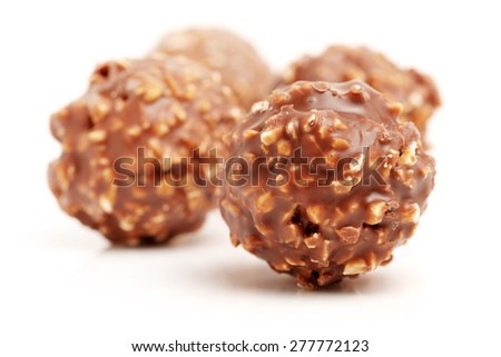 chocolate candy on white background  - stock photo