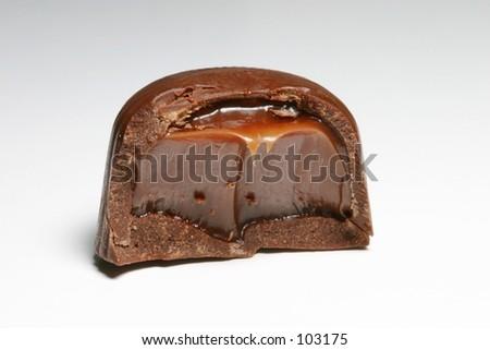 Chocolate candy with dark chocolate center. - stock photo