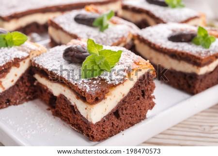 Chocolate cheese cake - stock photo