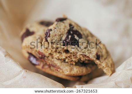 Chocolate chip cookie - stock photo
