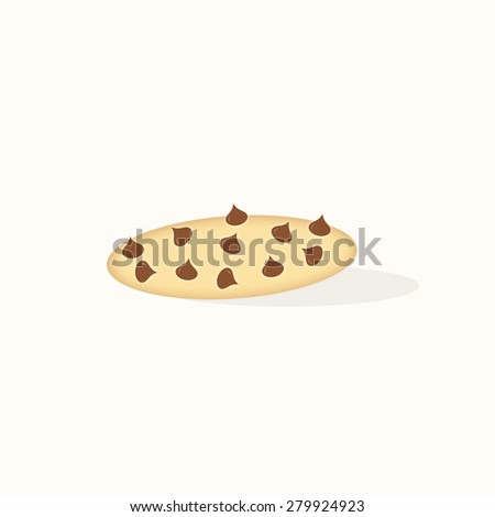Chocolate Chip Cookie - Text Box - stock photo