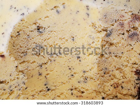 Chocolate chip flavor ice cream backgrounds and texture - stock photo