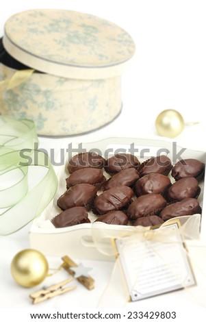 chocolate Christmas cookies - stock photo