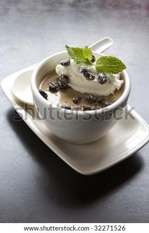 Chocolate Coffee Bean Dessert - stock photo