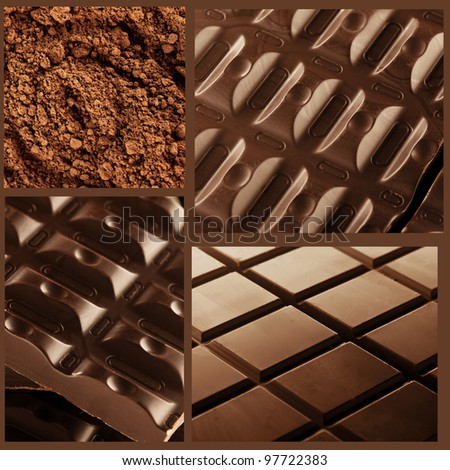 Chocolate Collage - stock photo
