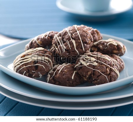 chocolate cookie - stock photo