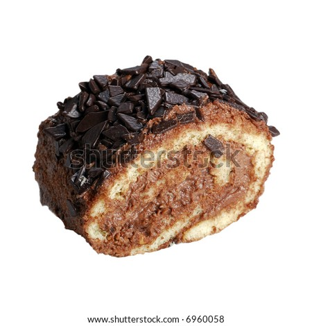 Chocolate cookie on pure white background. Easy to use on your project - stock photo