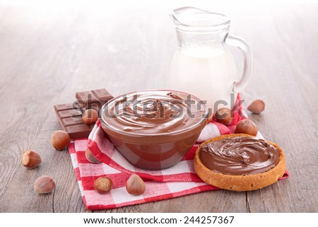 chocolate cream - stock photo