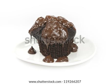 chocolate cupcake - stock photo