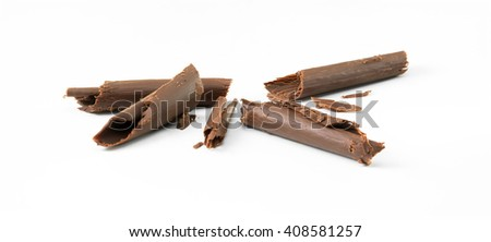 Chocolate curl isolated on a white background  - stock photo