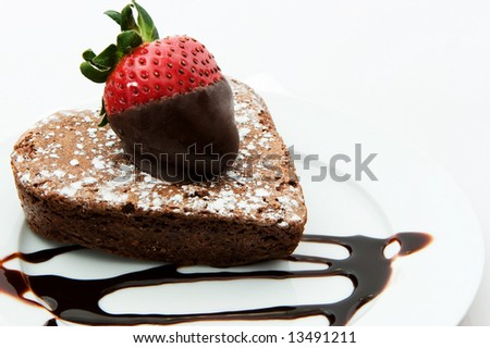 Chocolate dessert - stock photo