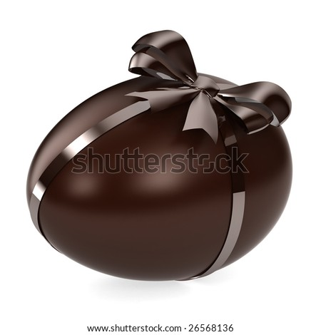 Chocolate Egg - stock photo