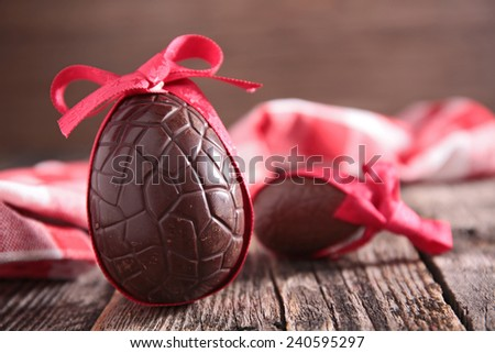chocolate eggs - stock photo