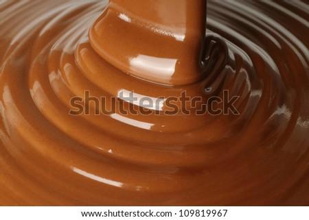Chocolate flow - stock photo
