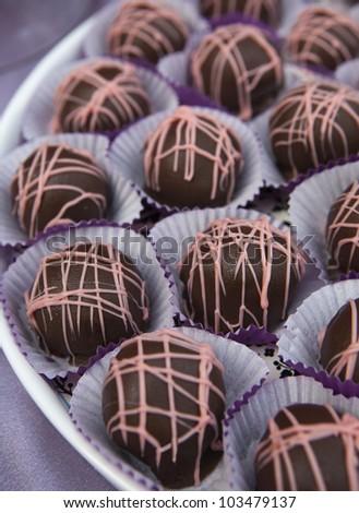 Chocolate Ice Cream Bonbons - stock photo