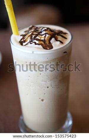 chocolate milk shake - stock photo