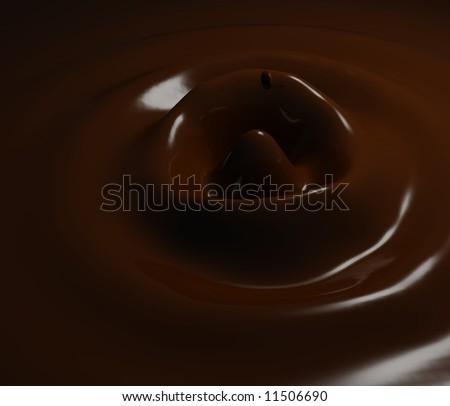 Chocolate milk splash brown background - stock photo