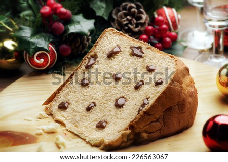 Chocolate Panettone - stock photo