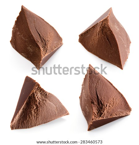 Chocolate pieces. Collection. - stock photo