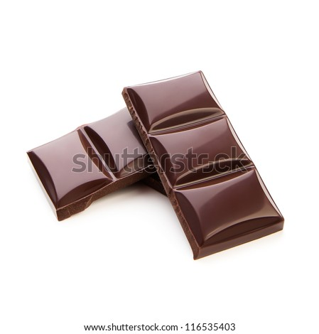 Chocolate plates isolated on white background - stock photo
