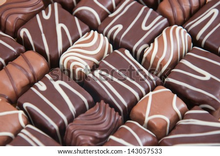 Chocolate praline - stock photo